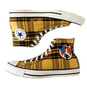Converse Plaid Chuck Taylor All Star Peace Shoes